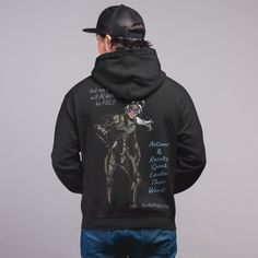C.D.U.L.O: Stealth ( Black Wolf ) Hoodie Wolf Hoodie, Sweater Hoodie, Black Hoodie, The Infiltrator, Super Hero Shirts, Character Profile, Hoodies For Sale, Comic Games, Movie T Shirts