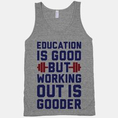 Working Out Is Gooder #workout #fitness #funny #shirt