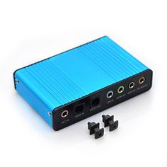 Sound Card,Optimal Shop 6 Channel External Sound Card USB 2.0 External 5.1 Surround Sound Optical S//PDIF Audio Sound Card Adapter for PC Laptop Recording Compatible with Windows 8//7// XP