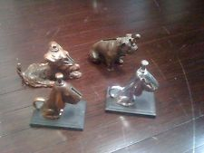 DOGS 4 Striker Lighter RONSON COLLECTION BULLDOG SCOTTY 2 HOUNDS
