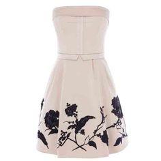 Blumen modern geschnittenen neues Design Kleid