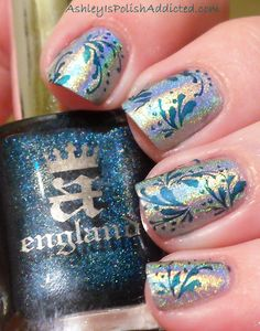 Ashley is PolishAddicted: Holy HOLO!!! Layla Jade Groove with a England St. George Stamping!