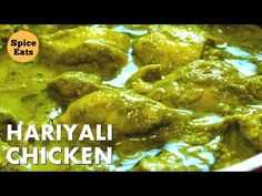 CHICKEN HARIYALI CURRY | HARE MASALE KA CHICKEN | HARE MASALE KA MURGH | CHICKEN HARIYALI - YouTube Indian Chicken Recipes, Indian Food Recipes, Chicken Gravy, Chicken Curry, Cooking Recipes, Cooking Videos, Food Dishes, Catering, Eat