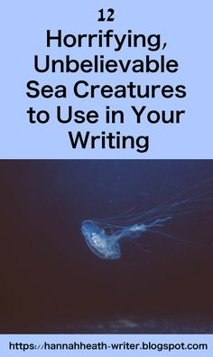 Hannah Heath: 12 Horrifying, Unbelievable Sea Creatures to Use in Your Writing Writing Advice, Writing Resources, Writing Help, Writing A Book, Writing Prompts, Resume Writing, Writers Notebook, Writers Write, Scary Ocean