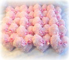 Body Powder Puff HEART shaped rose pink bath by BonnyBubbles, $14.50