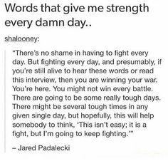 Preach Padaleski... it's padalecki... what?... I'm pretty sure it's Padalecki