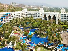 Barcelo Karmina Palace in Manzanillo, Mexico. Awesome pool layout!