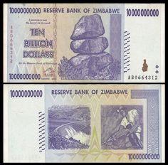 Zimbawe Ticket New of 500 Million Dollars Pick60 Hyper Inflation 2008