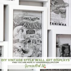 Using Postcards and Vintage Prints to Create Wall Art - Green in Real Life Vintage Artwork, Vintage Prints, Local Museums, Custom Mats, Art Sites, Collage Frames, Diy Wall Art, Printing Services, Note Cards