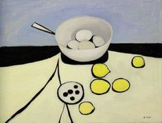 William Scott, 'Bowl, Eggs and Lemons,' 1950 Robert Doisneau, Irish Painters, Art Bin, Italian Artist, Creative Icon, Love Painting, Map Art, Art Google, Still Life