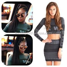 #MsMoeMoney's Gray Graphic Print Crop Top #LHHNY