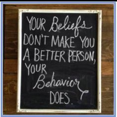 So true. Reminds me of an equation a friend shared with me:  Stated beliefs + Behavior = Actual beliefs!   Think abt it. U might be shocked.