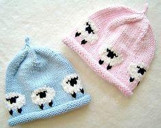 Sombrero de oveja bebé bebés de la gorrita tejida sombrero