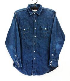 VINTAGE FOREMOST WESTERN SHIRT Sz.M Western Outfits, Western Shirts, Vintage Shirts, Vintage Outfits, Vintage Clothing, Denim Button Up, Button Up Shirts, Cut Shirts, Denim Shirts
