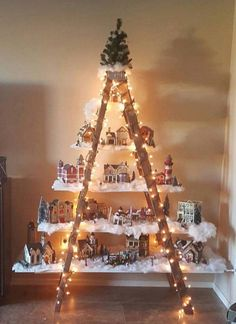 Love this idea for a Christmas village display!