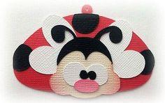 Etiqueta de mariquitas San Valentín shoppies prefabricados juntar las piezas de papel 3D Die Cut by Kira