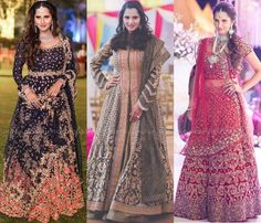 Sania Mirza Outfits for Her Sister Anam Mirza Wedding, Sania Mirza Pictures during Sister Anam Mirza Wedding Reception.