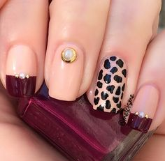 Fancy mix n match mani by http://instagram.com/melcisme