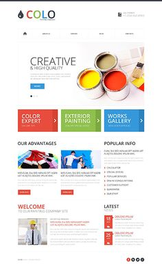 Template 52119 - Painting Responsive Website Template