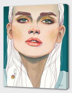 50 Ideas For Illustration Art Girl Sketchbooks Pencil Portraits Illustrés, L'art Du Portrait, Digital Portrait, Digital Art, Painting Portraits, Illustration Art Nouveau, Illustration Vector, Portrait Illustration, Animal Illustrations