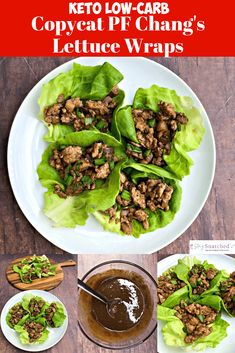 Easy, keto low-carb pf chang's chicken lettuce wraps with video is a quick copycat recipe that is low in calories. this tutorial outlines what lettuce is Copycat Recipes, Diet Recipes, Healthy Recipes, Primal Recipes, Flour Recipes, Steak Recipes, Sweets Recipes, Cooking Recipes, Squat Workout