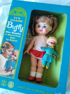 Vintage 1967 Mattel Talking Buffy Doll and Mrs.Beasley. I got this from my brother and his wife for Christmas when I was 6. I still have her.