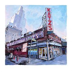 Bob Dylan - Late in the Day, Houston Street (silkscreen)