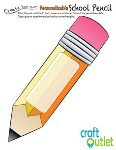 Pencil Coloring Pages Printable Lovely Back to School Apple with Pencil Printable – Craft Outlet Printable Crafts, Templates Printable Free, Free Printables, Craft Outlet, School Door Decorations, School Doors, Back To School Gifts, Printable Coloring Pages, Teacher Gifts