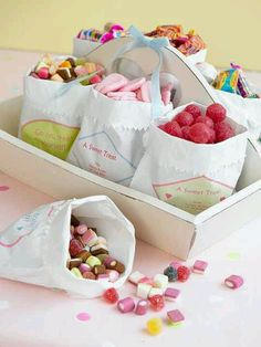 ~I remember buying sweets by the quarter - favourites were acid drops and lemon sours.