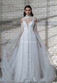 268a34f9c 61 mejores imágenes de Capas en 2018 | Bridal dresses, Bridal gowns ...