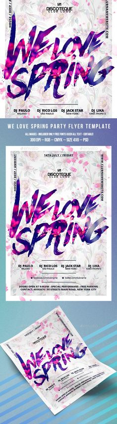 Spring Flyer Template PSD. Download here: http://graphicriver.net/item/spring-flyer/15550046?ref=ksioks