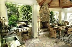Love the outdoor kitchen