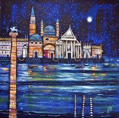 Scottish Artist Ritchie COLLINS-Venice Reflections