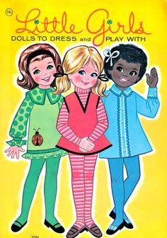 Vintage Little Girls Paper Dolls