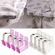 4pcs Stainless Steel Acrylic Adjustable Table Cloth Fixed Clips Table Cover Clamp Holder