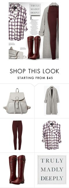"""""""Truly Madly Deeply"""" by rigginsbabygirl ❤ liked on Polyvore featuring Zara, J Brand, Frye and Pottery Barn"""