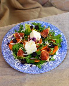 Salade d'automne: figues-butternut-mozzarella - Rock my Casbah