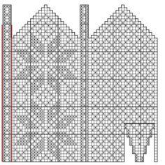 Bilderesultat for strikke diagram Crochet Mittens Free Pattern, Knit Mittens, Knitting Socks, Knitting Stitches, Mitten Gloves, Knitting Patterns, Yarn Projects, Knitting Projects, Fillet Crochet