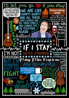 Book Collage based on 'If I Stay' by Gayle Forman -  gayleforman A pretty amazing book. So frackin' excited for the film! See the rest...