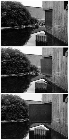 carlo scarpa, architect: brion tomb, san vito d'altivole cemetery, (largely completed by chapel. Famous Architecture, Japanese Architecture, Architecture Details, Carlo Scarpa, Porches, Artist And Craftsman, Italian Summer, Concrete Structure, Concrete Design