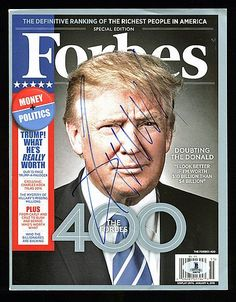 Donald J. Trump Authentic Signed Forbes Magazine Autographed - Beckett Certified