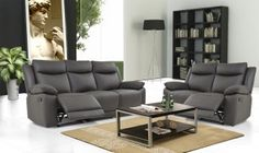 Volo Espresso Leather Reclining Sofa and Loveseat Set Leather Reclining Sofa, Leather Recliner, Leather Sofas, Living Room Furniture, Modern Furniture, Sofa And Loveseat Set, Traditional Sofa, Sofa Tables, Wood Interiors