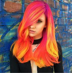 Neonowe włosy, które świecą w ciemności!