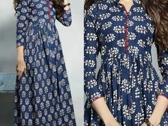 gathered kurti / front open cutting part 1 Malayalam Salwar Suit Neck Designs, Kurta Designs, Blouse Designs, Dress Designs, Kurti Patterns, Dress Sewing Patterns, Clothing Patterns, Blouse Patterns, Stitching Dresses