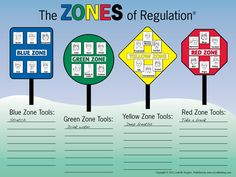 Zones of Regulation road sign poster from The Dynamic Duo: The Learning Zone