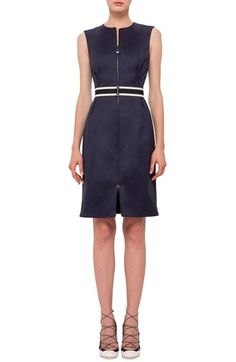 Akris punto Stretch Cotton Sheath Dress available at #Nordstrom