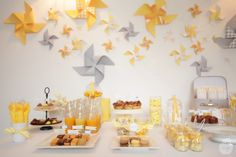Sweet table jaune gris