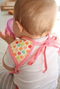 The Bapron (baby apron) - with pattern. Great for a messy little boy who wants to feed himself!