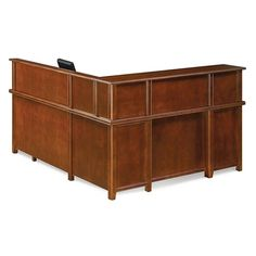View our Right Return Reception L-Desk with Counter, and shop our wide selection of furniture to customize your office space. Martin Furniture, Desk Styling, Pedestal Desk, Reception Counter, Desk Office, Table Desk, Contemporary Style, Storage Spaces, Home Decor
