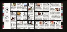 A Year in Review from A to Z (ST Nov. 2008) - Scrapbook.com